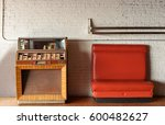 Vintage Jukebox And Bench...