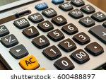 close up button calculator | Shutterstock . vector #600488897
