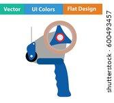 scotch tape dispenser icon....   Shutterstock .eps vector #600493457