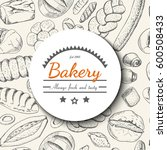 vector background with various... | Shutterstock .eps vector #600508433