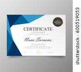certificate premium template... | Shutterstock .eps vector #600519053