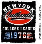 athletic dept. new york ... | Shutterstock . vector #600521957