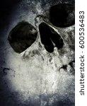 horror skull black and white... | Shutterstock . vector #600536483