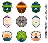 set of  logos and badges... | Shutterstock . vector #600552983