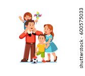 happy parents mom and dad... | Shutterstock .eps vector #600575033