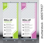 roll up brochure flyer banner... | Shutterstock .eps vector #600575927