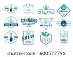 medical cannabis retro logo ... | Shutterstock .eps vector #600577793