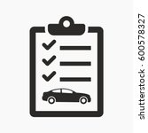 car maintenance list icon | Shutterstock .eps vector #600578327