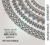 frame lace ornament set ... | Shutterstock .eps vector #600588587