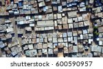 aerial top down view of slum... | Shutterstock . vector #600590957