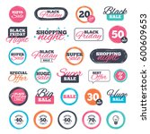 sale shopping stickers and... | Shutterstock . vector #600609653