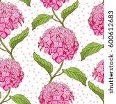 seamless vintage floral pattern ... | Shutterstock .eps vector #600612683