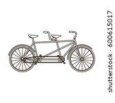 tandem bike.pleasure bicycle... | Shutterstock .eps vector #600615017