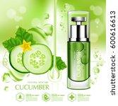 cucumber natural moisture skin... | Shutterstock .eps vector #600616613