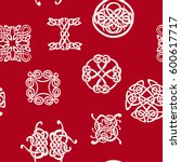 seamless pattern with celtic... | Shutterstock .eps vector #600617717