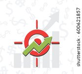 upward chart with target symbol ...   Shutterstock .eps vector #600621857