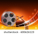 illustration of a film stripe... | Shutterstock .eps vector #600626123
