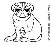 pug icon | Shutterstock .eps vector #600647993