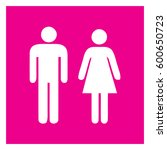 male and female sign  ... | Shutterstock .eps vector #600650723