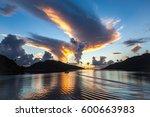 morning sunshine.tahaa island.... | Shutterstock . vector #600663983