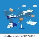 set of flat vector web banners... | Shutterstock .eps vector #600672857
