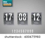 dark glass countdown timer... | Shutterstock .eps vector #600675983