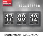 glass countdown timer isolated... | Shutterstock .eps vector #600676097