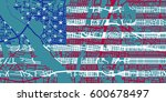 detailed vector map of... | Shutterstock .eps vector #600678497