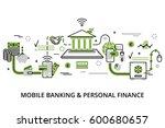 modern flat thin line design... | Shutterstock .eps vector #600680657