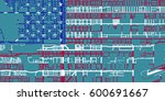 detailed vector map of san... | Shutterstock .eps vector #600691667