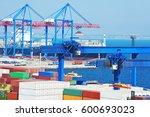 port cargo crane  ship and...
