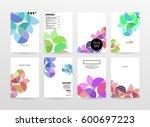 memphis geometric background... | Shutterstock .eps vector #600697223