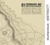 topographic map background with ... | Shutterstock .eps vector #600700277