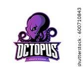 furious octopus sport vector... | Shutterstock .eps vector #600710843