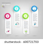 set  group  collection of four... | Shutterstock .eps vector #600721703