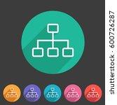 line hierarchy icon flat web...