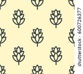 hop beer seamless pattern...   Shutterstock . vector #600726377