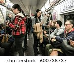 new york  march 1  2017  people ... | Shutterstock . vector #600738737