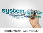 system update word cloud... | Shutterstock . vector #600740837