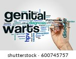 genital warts word cloud... | Shutterstock . vector #600745757