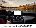 closeup of navigation blank... | Shutterstock . vector #600749753