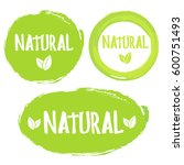 natural product 100  icon... | Shutterstock .eps vector #600751493