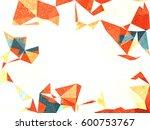 orange and white geometric... | Shutterstock . vector #600753767