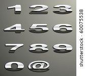 vector chrome numbers | Shutterstock .eps vector #60075538