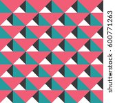 seamless triangle color. cloth... | Shutterstock .eps vector #600771263