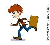 ridiculous caricature ... | Shutterstock . vector #600780023