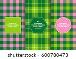 pink green tartan and gingham...