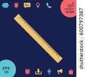 the long ruler icon | Shutterstock .eps vector #600797387