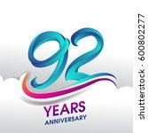 90 years anniversary... | Shutterstock .eps vector #600802277