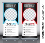 roll up brochure flyer banner... | Shutterstock .eps vector #600804227